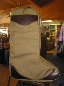 Boot Bag, Safari Tan with Antique Brown leather trim