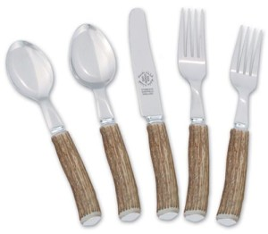 Stamped 5 pc flatware set